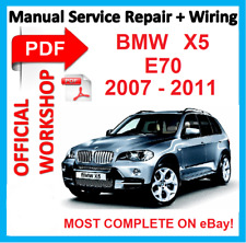 #FACTORY WORKSHOP  MANUAL service repair FOR BMW X5 E70 2007 2008 2009 2010 2011