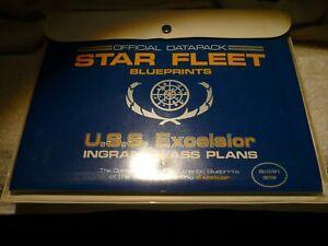 USS Excelsior Star Fleet Blueprint Set Star Trek 8 Sheets in Vinyl pouch