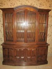 Ethan Allen Classic Manor Lighted Grilled Full Glass China Cabinet Hutch 6018