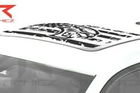 Dodge Charger Challenger Hellcat Sunroof USA distressed Vinyl Flag Decal