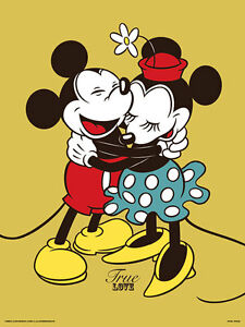 Mickey & Minnie Mouse True Love - Framed 30 x 40 Official Print