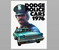 1976 Dodge Police Car PHOTO Vintage Ad Policeman Pursuit Vehicle
