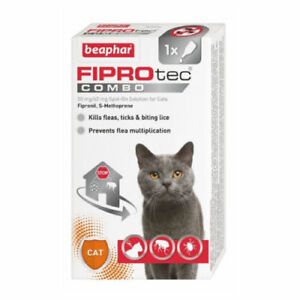 Beaphar FIPROtec Combo Spot On Flea Treatment For Cats And Dogs 1, 3 Treatments.