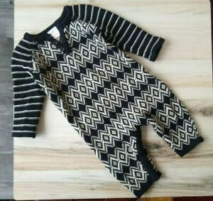 Hanna Andersson Sweater Romper One Piece Outfit Baby 70 6-12 Months Boys Girls
