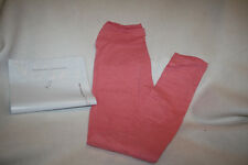 Women Lularoe Solid Heathered Rose Pink Leggings Size OS