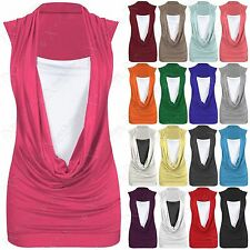 Unbranded Women's Hip Length Cowl Neck Casual Tops & Shirts
