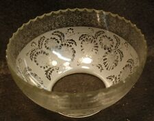 "C Vintage Gas Etched Glass Bowl Light Shade Ceiling Sconce Fixture 4"" Fitter"