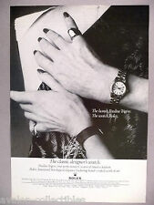 Rolex Lady Oyster Perpetual Watch PRINT AD - 1977 ~~ Pauline Trgere, wristwatch