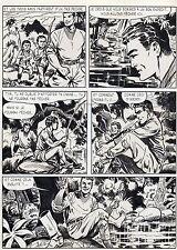 BOB LEGUAY  VOYAGE PALPITANT PLANCHE ORIGINALE TIM L'AUDACE ANNEES 1950 PAGE 10
