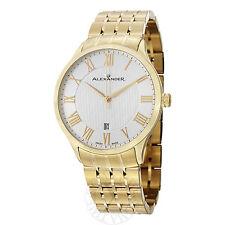 Alexander Men's A103B-03 Statesman Triumph Goldtone Bracelet Swiss Quartz Watch