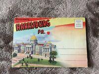 Vintage Post Card Souvenir Folder Harrisburg, Pennsylvania 1950's D-3354 UNUSED!