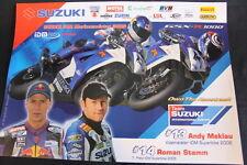 Poster Suzuki Team Int. Europe GSX-R1000 2006 #13 Meklau #14 Stamm IDM SBK (HW)