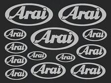 Arai - set of stickers- motosport - 13 kit- silver  SK-151