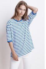 NEW VELVET BY GRAHAM & SPENCER NASSA Striped Oversized Knit Tee Top Size M $119