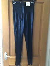 TOP SHOP BLACK DISCO JEGGINGS NEW WITH TAGS SIZE 12