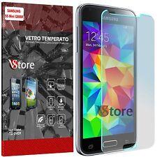"""Pellicola in Vetro Temperato Per Samsung Galaxy S5 Mini G800F Salva Schermo 4,5"""""""