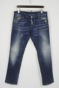 DSQUARED2 Men's (EU) 54 Ripped & Painted Fade Effect Stretchy Jeans 26128-JS