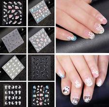 Buy Rhinestone 3d Sticker French Nail Art Supplies Ebay