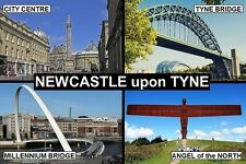 SOUVENIR FRIDGE MAGNET of NEWCASTLE ENGLAND