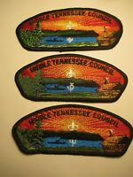 BSA (3) CSP Patches Middle Tennessee Council  S-12-a