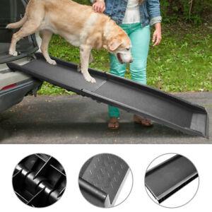 Hunderampe klappbar Hundetreppe Autorampe Tragbare leichte 90 kg 156 x 40 cm