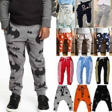 Kids Boys Girls Harem Pants Trousers Leggings Casual Jogger Sweatpants Bottoms