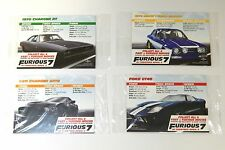 Fast and Furious 7 Pizza Promo Collectible Trading Card (Set of 4) Ford Charger