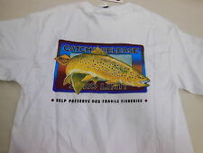 CATCH & RELEASE Zero Limit FLY FISHING 100% Cotton Sz. SMALL (34-36) NEW