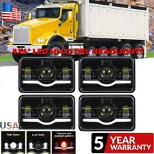 "4Pcs 4x6"" LED Headlights Sealed Beam DRL For Freightliner Classic XL Kenworth"