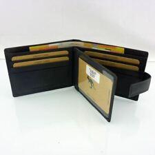 Genuine Leather Men Slim Wallet RFID Anti Theft Full Grain Cowhide fits 10 Cards