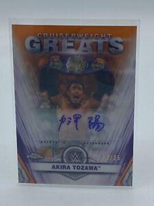2021 Topps Chrome WWE Akira Tozawa Cruiserweight Greats Refractor Auto Signed 25
