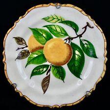 """Assiette """"Les Oranges"""" PERRET GENTIL Céramique MENTON faïence/massier/citron..."""