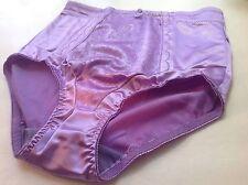 Women Panties,Briefs,Control Panties Ann Diane Size L Violet Satin W/2sidepocket
