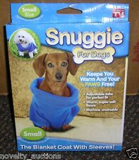 QQQ SNUGGIE FOR SMALL DOGS BLANKET COAT WITH SLEEVES PET DOG