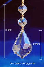 6 x CLEAR CRYSTAL BAROQUE LEAF CHANDELIER PARTS PRISMS