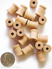 "Set of 50 empty Wooden Spools for jewelry, crafting - a wee little  5/8"" x 1/2"""
