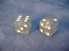 CLEAR SPARLKE DICE VALVE CAPS LOW RIDER CRUISER BICYCLE