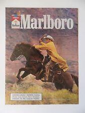 1986 Print Ad Marlboro Man Cigarettes Western Cowboy Lasso Horseback