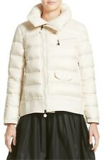 MONCLER Margaret Womens Down Puffer Coat Jacket NWT Size 2 MEDIUM Cream $1440
