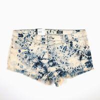 Volcom Shorts Acid Wash Chonies Micro Short Womens Junior Size 13 NWT