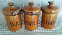 Lot of 3 Vintage Holiday Design Canisters