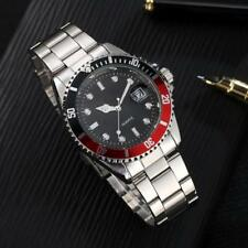 Hot Mens Military Stainless Steel Date Calendar Sport Quartz Analog Wrist Watch