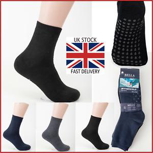 Mens non slip socks cotton rich men's socks Gripper non slip 6-11 dress socks