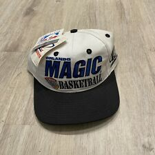 Logo Athletic Vintage Orlando Magic Hat NEW NBA White Snapback VTG 90s RARE Cap