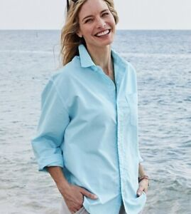 FRESH PRODUCE Seaglass Oxford Cotton Button Down Shirt NWT