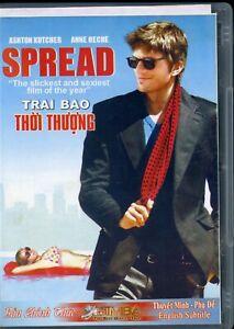 Spread DVD Region One R1 Thai English Subtitles Ashton Kutcher Anne Heche Movie