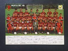 BELLA CARTOLINA CALCIO SQUADRA MILAN A.C. 1984/85