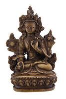 Soprammobile Tibetano Da Verde Tara Meditazione IN Resina Budda 9cm - 1545