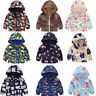 Toddler Kids Baby Coat Outerwear Boys Girls Spring Hooded Cartoon Jacket Clothes