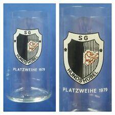 G919 GLAS SG HUNDSHÜBEL DFV DFB Fussball Sport DDR Oberliga Liga H11,5cm